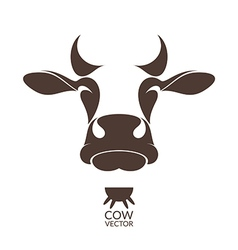 Cow Isolated animal on white background vector image vector image