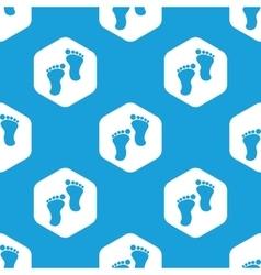 Footprint hexagon pattern vector image