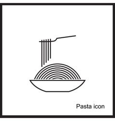 Spaghetti or noodle simple black icons vector image vector image