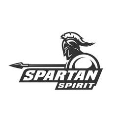 spartan spirit symbol logo vector image vector image