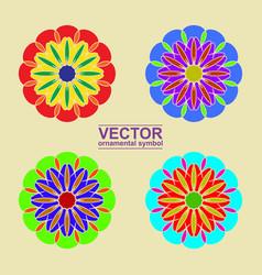Arabic ornamental vector