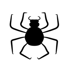 black spider on a white background vector image vector image
