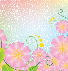 Bright pink flowers with background vector