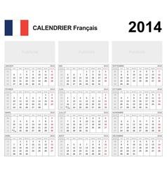 Calendar 2014 French Type 19B vector image