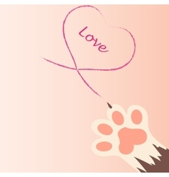 cat paw print with claws vector image vector image