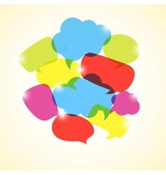 Design element of colorful transparent bubbles vector image