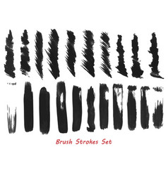 grungy brush strokes set vector image vector image