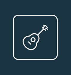 guitar outline symbol premium quality isolated vector image