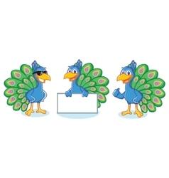 Peacock Mascot happy vector image