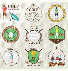 set of golf labels badges vector image vector image