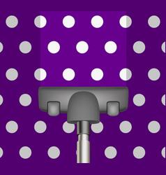 vacuum cleaner drains purple carpet vector image vector image