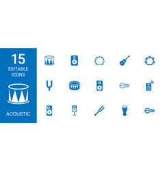 15 acoustic icons vector