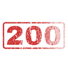 200 rubber stamp vector image