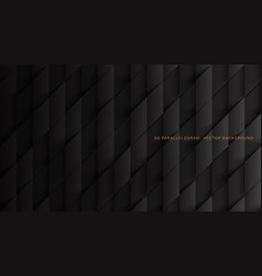 3d parallelograms pattern dark gray abstract vector image