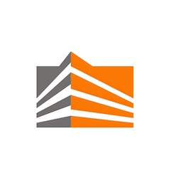 abstract building cityscape logo vector image