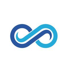 abstract eyeglasses vision logo vector image