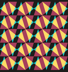 abstract geometric seamless pattern triangles vector image