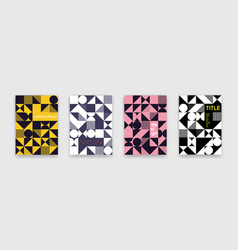 abstract geometric shapes pattern bauhaus minimal vector image