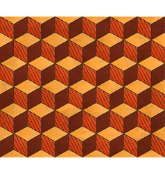 Aged drawing styled cubes pattern vector image