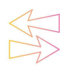 Arrows in right and left directions gradient style vector