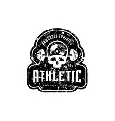 athletic emblem for t-shirt sticker and tag vector image
