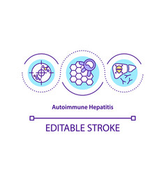 Autoimmune hepatitis concept icon vector