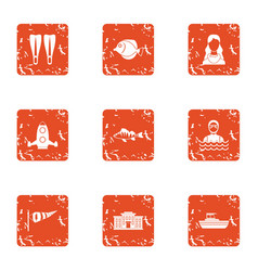 Bachelor party icons set grunge style vector
