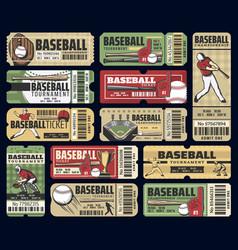 Baseball sport cup tournament tickets vector