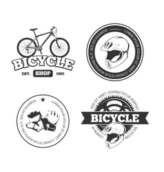 Bicycle bike vintage labels emblems vector