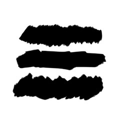 black background for text paint ink brush stroke vector image