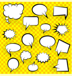 blank speech bubble vector image