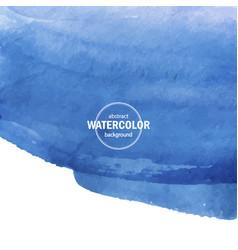 blue watercolor big blot vector image