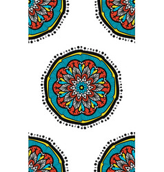 boho mandala seamless pattern vector image