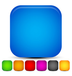 Bright vivid rounded square backgrounds 7 colors vector