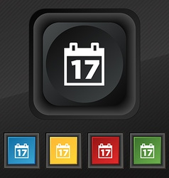 Calendar Date or event reminder icon symbol Set of vector image