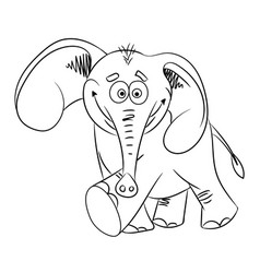 Cartoon image of dancing elephant vector