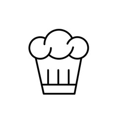 chefs hat icon vector image