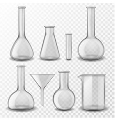 Chemical glass equipment laboratory glassware vector
