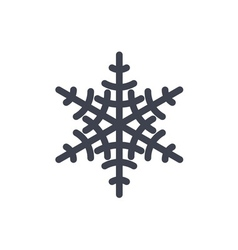 Christmas snowflake isolated vector