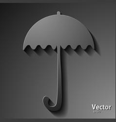 Colorful beach umbrella on background vector