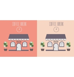 Cute cozy cafe invite for a coffee vector