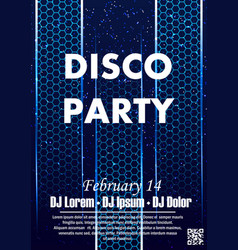 disco night party vector image