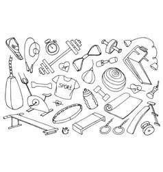 doodle set sport vector image