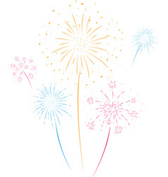 fireworks festival and event background vector image