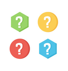Flat design icons with question marks vector