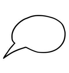flat free hand drawing of speech bubble vector image