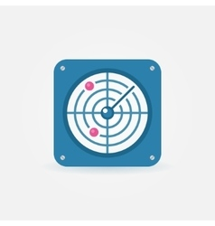 Flat radar icon vector image
