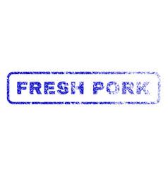 Fresh pork rubber stamp vector