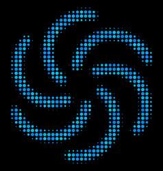 Galaxy halftone icon vector