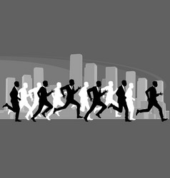 Group men running vector